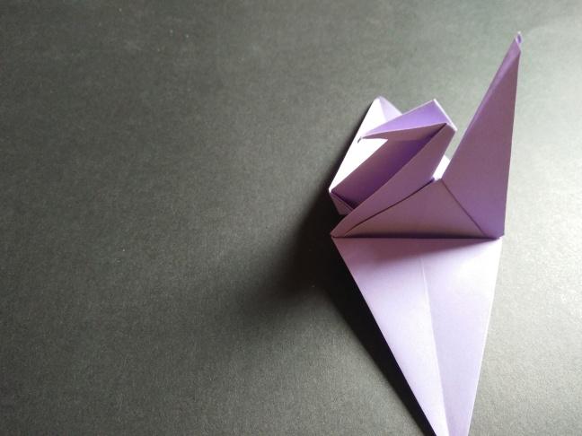 Quarantine activity: paper crane origami